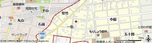 愛知県江南市河野町(一色)周辺の地図