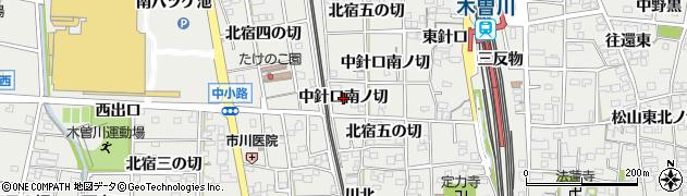 愛知県一宮市木曽川町黒田(中針口南ノ切)周辺の地図