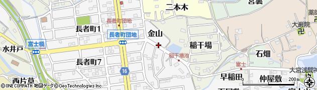 愛知県犬山市金山周辺の地図