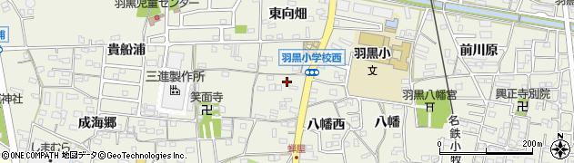愛知県犬山市羽黒新田(上せみ屋)周辺の地図