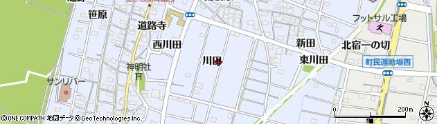 愛知県一宮市木曽川町里小牧(川田)周辺の地図