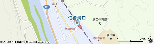 鳥取県西伯郡伯耆町周辺の地図