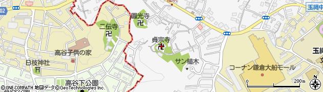 貞宗寺周辺の地図