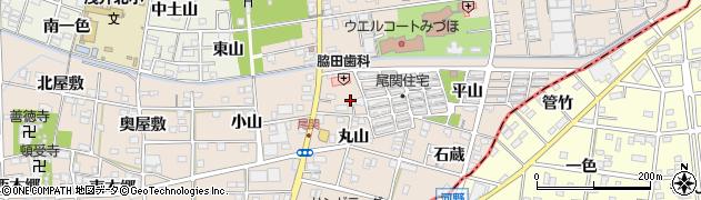 愛知県一宮市浅井町尾関(船)周辺の地図
