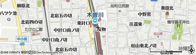 愛知県一宮市木曽川町黒田(三反物)周辺の地図