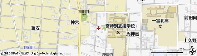 愛知県一宮市杉山(地蔵浦)周辺の地図