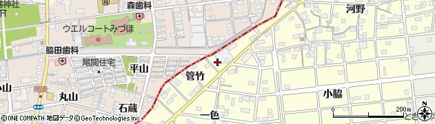 愛知県江南市河野町(管竹)周辺の地図