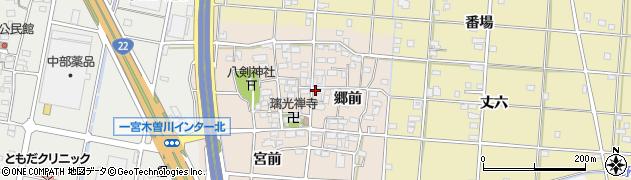 愛知県一宮市田所周辺の地図
