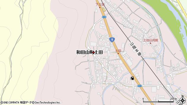 〒669-5241 兵庫県朝来市和田山町土田の地図