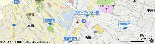 T‐house周辺の地図