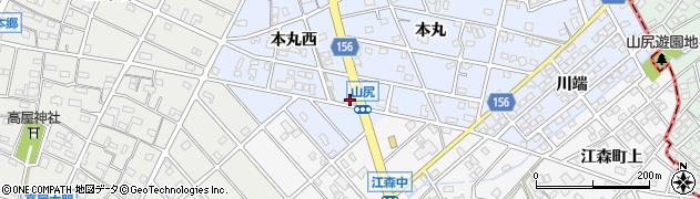 佐守周辺の地図
