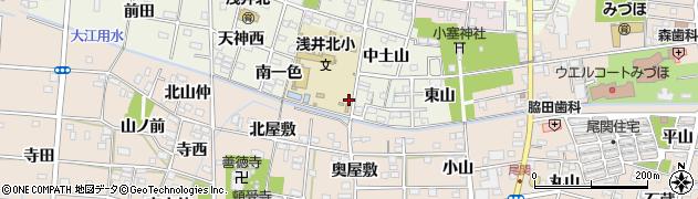 愛知県一宮市浅井町大野(南土山)周辺の地図