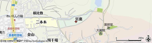 愛知県犬山市宮裏周辺の地図
