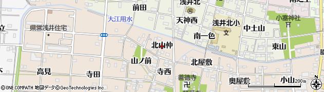 愛知県一宮市浅井町尾関(北山仲)周辺の地図