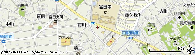 ほっともっと 江南後飛保町店周辺の地図