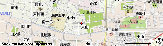 愛知県一宮市浅井町大野(東山)周辺の地図