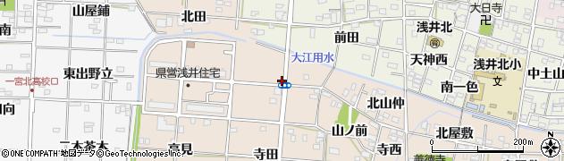 愛知県一宮市浅井町尾関(西ノ山)周辺の地図