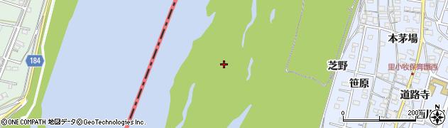 愛知県一宮市木曽川町里小牧(吹寄洲)周辺の地図