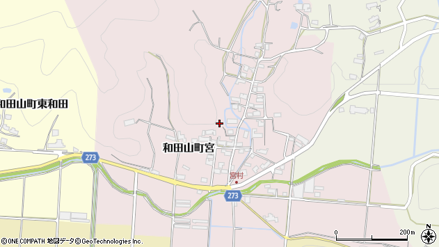 〒669-5229 兵庫県朝来市和田山町宮の地図