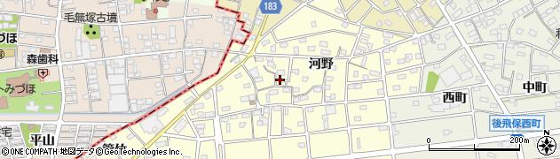 愛知県江南市河野町(河野)周辺の地図