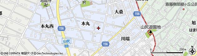 愛知県江南市山尻町周辺の地図