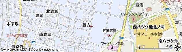 愛知県一宮市木曽川町里小牧(野方)周辺の地図