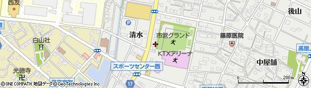 愛知県江南市高屋町(清水)周辺の地図