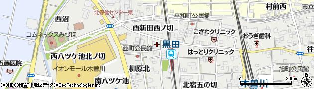 愛知県一宮市木曽川町黒田(西針口北ノ切)周辺の地図