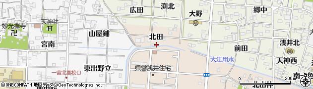 愛知県一宮市浅井町尾関(池田)周辺の地図