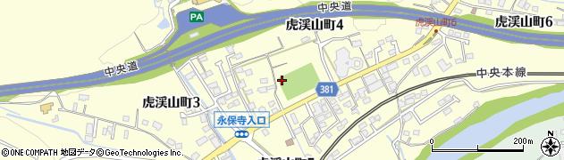 岐阜県多治見市虎渓山町周辺の地図