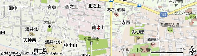 愛知県一宮市浅井町河田(南之上)周辺の地図