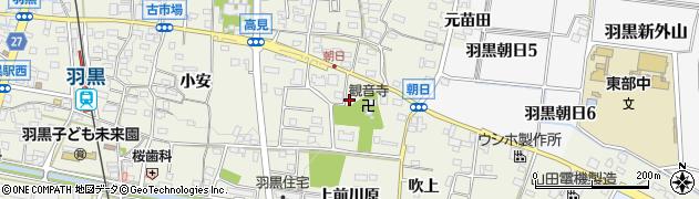 愛知県犬山市羽黒(子安)周辺の地図
