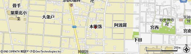 愛知県一宮市光明寺(本堕落)周辺の地図