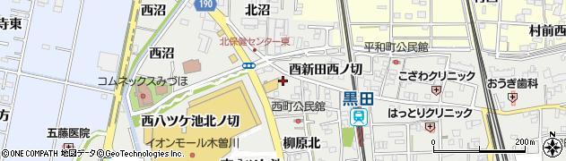 愛知県一宮市木曽川町黒田(北八ツケ池)周辺の地図