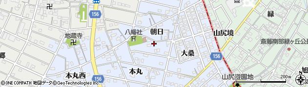 愛知県江南市山尻町(朝日)周辺の地図