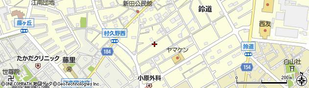 愛知県江南市村久野町(門弟山)周辺の地図