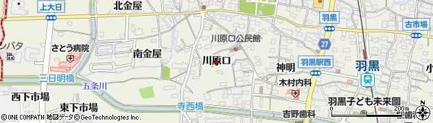 愛知県犬山市羽黒(川原口)周辺の地図