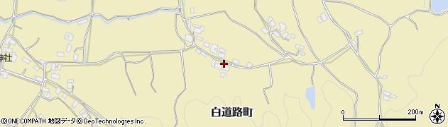 京都府綾部市白道路町(笹谷)周辺の地図