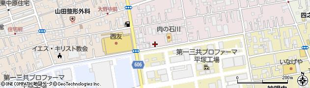 神奈川県平塚市中原上宿周辺の地図