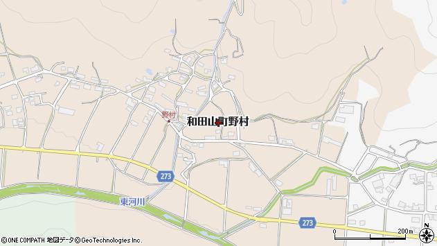 〒669-5225 兵庫県朝来市和田山町野村の地図