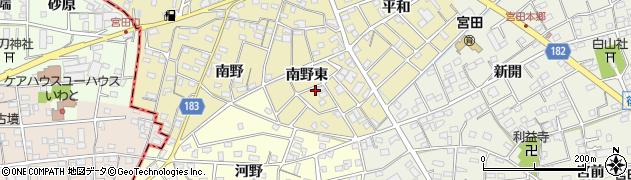 愛知県江南市宮田町(南野東)周辺の地図