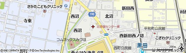愛知県一宮市木曽川町黒田(中沼北ノ切)周辺の地図