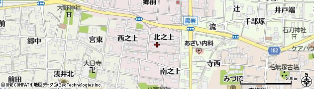 愛知県一宮市浅井町河田(北之上)周辺の地図
