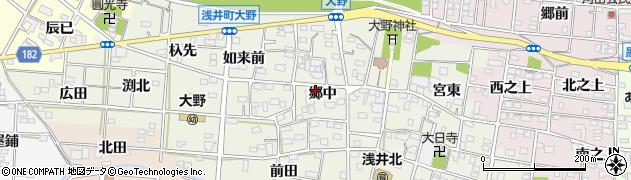 愛知県一宮市浅井町大野(郷中)周辺の地図