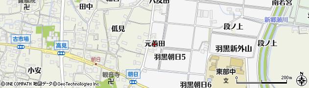 愛知県犬山市羽黒(元苗田)周辺の地図