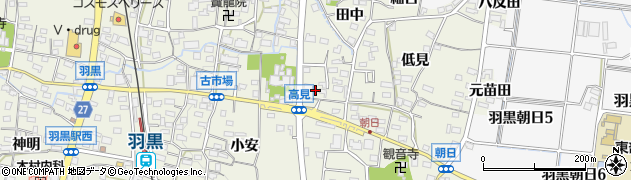 愛知県犬山市羽黒(高見)周辺の地図