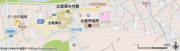 岐阜県土岐市周辺の地図