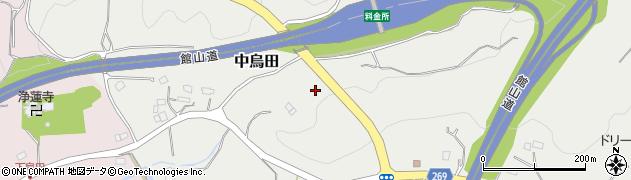 千葉県木更津市中烏田周辺の地図