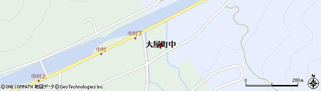 兵庫県養父市大屋町中周辺の地図