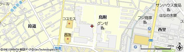 愛知県江南市村久野町(鳥附)周辺の地図